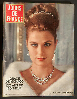 'jours De France' Vintage Magazine Grace Kelly Cover 23 April 1966
