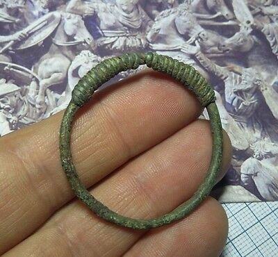 Perfect Ancient Bronze jewelry temporal BIG Ring Viking Kievan Rus  9-12 AD #202