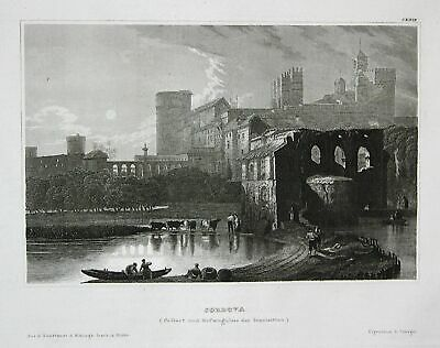 1840 Córdoba Andalusien Andalusia Spanien Espana Ansicht Stahlstich engraving
