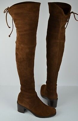 5d9e1e29ffb Stuart Weitzman Elevated Over The Knee Brown Suede Boot Size 8 M  798