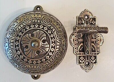 1879 Victorian Brass Double Strike Doorbell And Lever