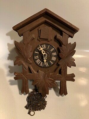 VINTAGE GEBR.KUNER MUSICAL CUCKOO CLOCK - PARTS or REPAIR as is