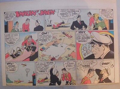 Smilin' Jack Sunday Page by Zack Mosley from 11/8/1936 Half Page Size!