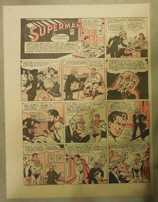 Superman Sunday Page #258 by Siegel & Shuster from 10/8/1944 Tabloid Page
