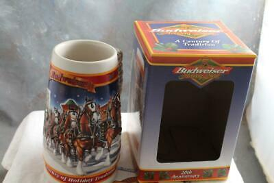 1999 Budweiser Holiday Stein Annual Clydesdale Christmas Beer Mug with Box 20th