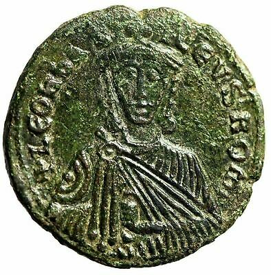 "Leo VI The Wise AE Follis ""Crowned Bust Facing"" Constantinople SB 1729 VF"