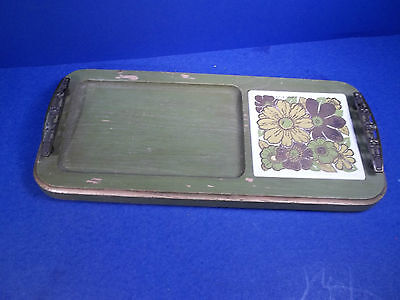 Vintage Mid Century Georges Briard Wooden Cheese Snack Tray Signed