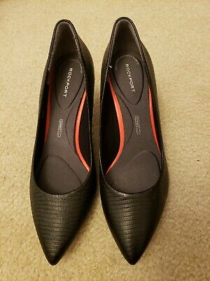 098201275a6b Rockport Total Motion Pointed Toe Leather Pumps, Women's Size 7M, Black