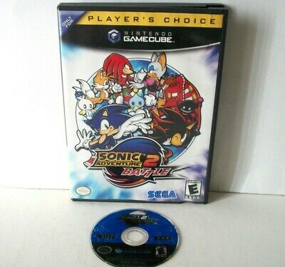 Sonic Adventure 2 Battle (Nintendo GameCube) Black Label Good Disc Game & Case