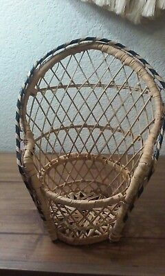 Peacock Style Wicker Rattan Chair Doll Furniture