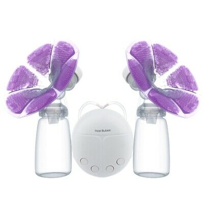 RealBubee BPA Free Double Microcomputer USB Electric Breast Pump w/ 150ml Bottle