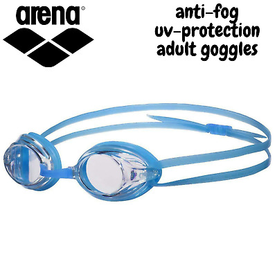 ARENA Drive 3 Goggles Swim Swimming Anti-Fog for Adults - Clear/Blue