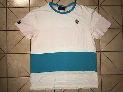 5313f91ceb4b Ofwgkta Odd Future Striped Embroidered Donut Multi Color T-Shirt Blue Pink  Golf
