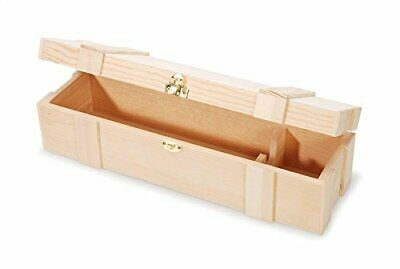 Darice Unfinished Wooden Wine Box, Hinged with Clasp, Twin Multicolor