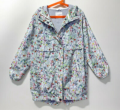 NEXT Kids Girls Floral Spring Hooded Jacket 9 Years (134cm) coat parka