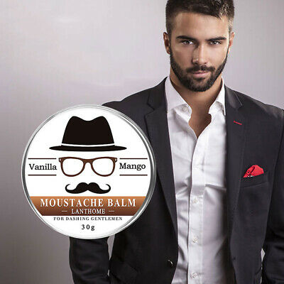 30g Beard Balm Natural Oil Conditioner Beard Care Moustache Wax Men Grooming Kit