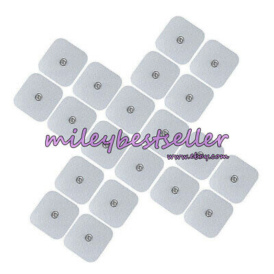 20pcs Snap On Replacement Electrode Pads Cable For Tens Unit Therapy Massager