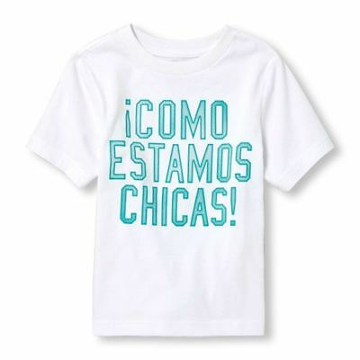 The Childrens Place Baby Toddler Boys Spanish Graphic T-Shirt, White, Size 2T
