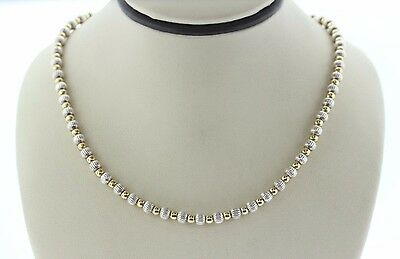 """Silpada Sterling Silver 925 Two Tone Ball Bead Chain Necklace - 20"""""""