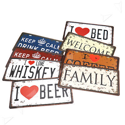 Metal Tin Sign Plaque Poster Wine Bar Wall Pub Restaurant Tavern Hanging Decor