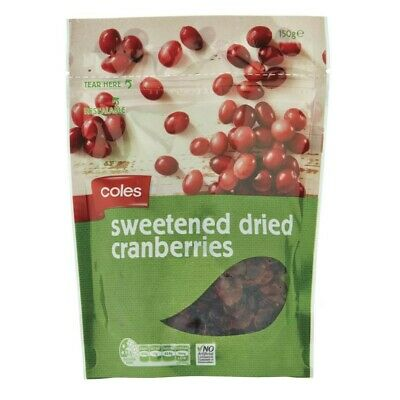 Coles Sweetened Dried Cranberries 150g