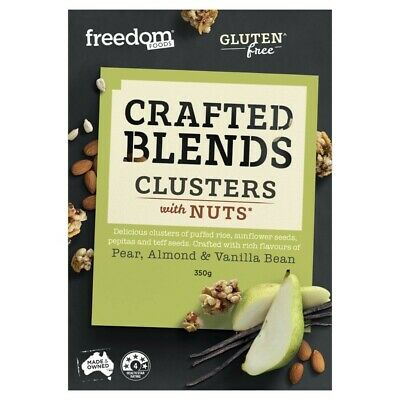 Freedom Foods Crafted Blends Pear Almond & Vanilla Bean Clusters with Nuts 350g