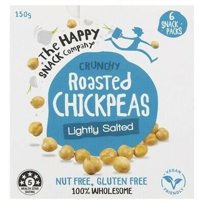 The Happy Snack Company Lightly Salted Crunchy Roasted Chickpeas 6 Pack 150g