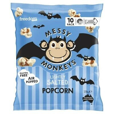 Messy Monkeys Popcorn Lightly Salted 130 gram