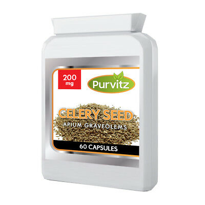 Celery Seed Extract Capsules Tablets Urinary Tract Hypertension Gout UK Purvitz