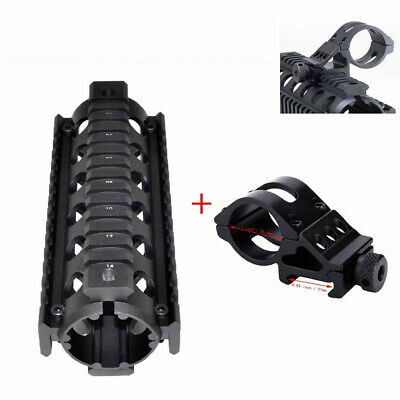 "25.4mm Scope Ring 6.7"" Handguard Laser Flashlight Mount Picatinny Quad Rail"