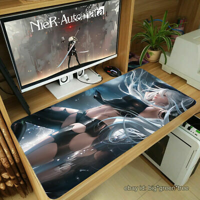 NieR Automata YoRHa 2B Anime Large Playmat Mouse Pad Keyboard Work Desk Mat