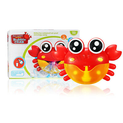 Crab Baby Bubble Maker Machine Automated Bathroom Toy Shower Time Colorful Light