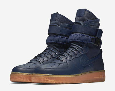 size 40 d9c47 1c062 Nike SF Air Force 1 Special Field AF1 Midnight Navy Blue Gum high 864024-400