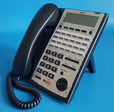 24-Button Backlit Dialpad Telephone Full Duplex 1100063 NEC IP4WW-24TXH-B-Tel