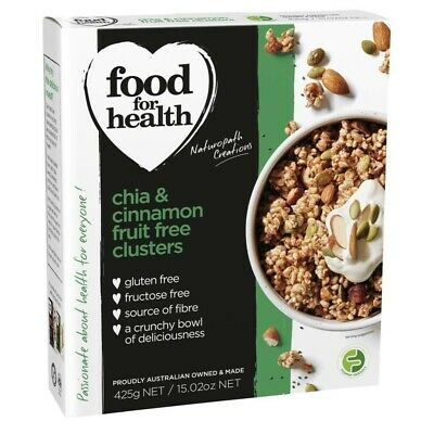 Food For Health Fruit Free Clusters with Chai & Cinnamon 425g