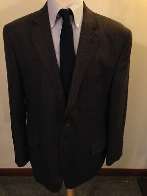 Mens Jack Victor Prossimo Brownish Gray Wool Two-Button Sport Coat-46R