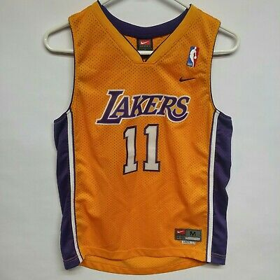 90ae00b1d5a Karl Malone Los Angeles Lakers Swingman Nike Stitched Med 2+ Yellow Jersey   11