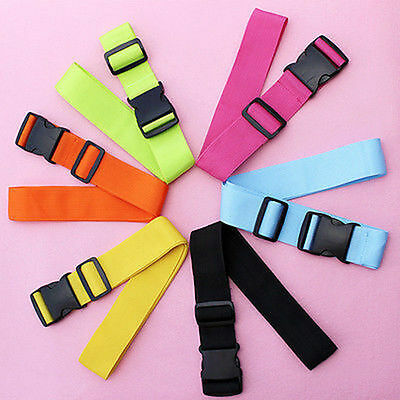 New Travelling Backpack Luggage Suitcase Strap Adjustable Nylon Strapping