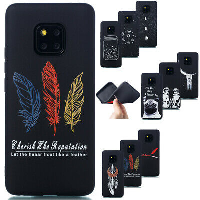 For Huawei Mate 20 Pro Lite Slim Soft Silicone TPU Painted Matte Back Case Cover