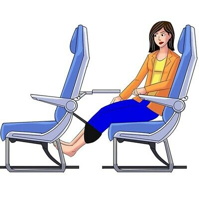 Comfy Hanger Travel Airplane Hammock Foot Footrest Made with Memory Foam US