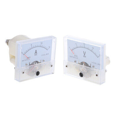 2pc 0-15A and 0-20V DC Ammeter Analogue Panel Amp Meter Analog Current Panel