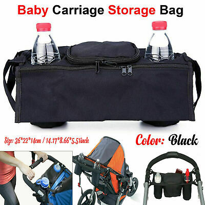 Baby Pram Pushchair Buggy Storage Bag Food Cup Bottle Stroller Holder Organiser