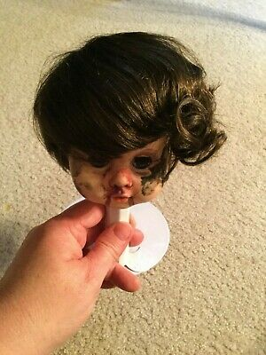 """Doll Wig Size 11"""" Color Brown Style W143 Tallina's Soft Curls on Ends New Old St"""