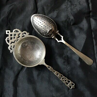 "Vintage EPNS Lovely Decoration Tea Strainer & A Loose Tea Infuser ""The Rapide"""