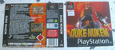 Duke Nuken (1996) Playstation 1 Cover, No Disco