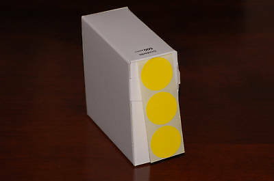 1000 Yellow  25Mm Dia. Sticky Dots Round Self Adhesive Coloured Labels
