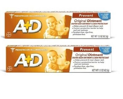 A+D Original Ointment Diaper Rash and Skin Protectant Dye Free 1.5 oz LOT OF 2