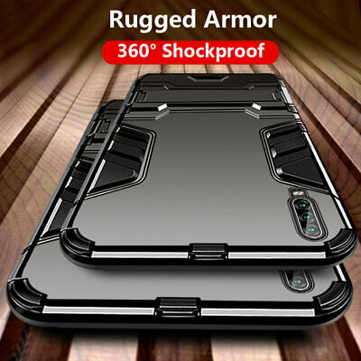 For Huawei P30 Pro P20 Lite 360° Shockproof Hybrid Rugged Armor Stand Cover Case