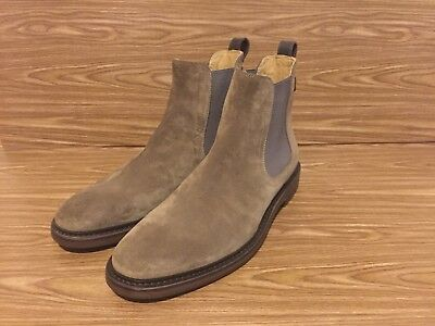 c33b3b54eaea SUEDE GEORGE BROWN Bilt Mens Fulton Chelsea Boots Size 8.5 Made in Italy