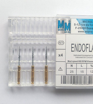 Micro-Mega Dental Endodontic Endoflare Files 4 pcs 25mm